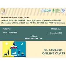 Aspek Hukum Pembiayaan & Restrukturisasi UMKM (Kerangka UU No. 2/2020 dan PP No. 23/2020 dan PMK Turunannya)