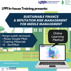 In-house Training : Sustainable Finance & Reputation Risk Management for Middle Management