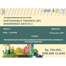Sustainable Finance (SF) Awareness Batch 2
